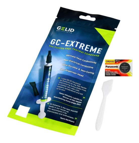 Pasta Térmica Gelid Gc Extreme 3.5g + Bateria Cr2032
