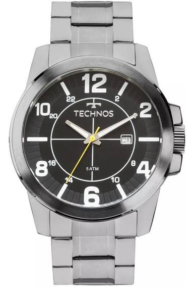 Relógio Masculino Technos Original 2115mgp Pulseira Aço C Nf