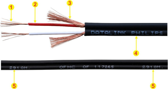 Cabo Rca Philips Datalink 2x0,20mm Rolo Com 100 Metros