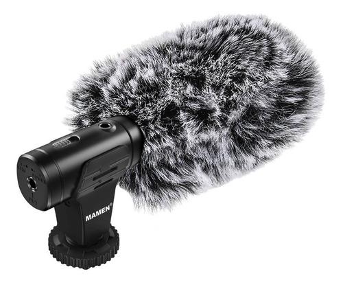 Microfone Profissional Direcional Mamen Mic-07 + Windshield