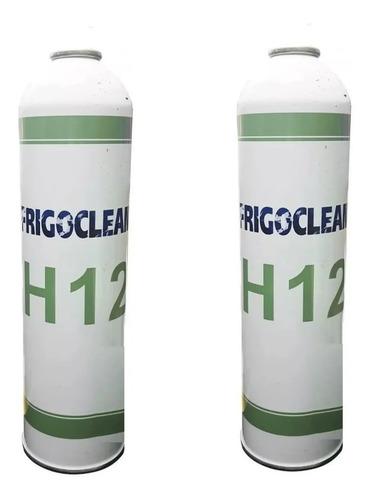2 Latas Gas H 12 Lata X 0.900 Kg Descartable Para Heladeras