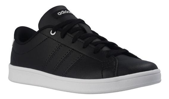 Tenis adidas Advantage Clean Qt Negro Blanco Dama Db1370