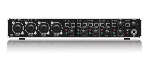 Interfaz Audio Behringer U-phoria Umc404hd + Garantía