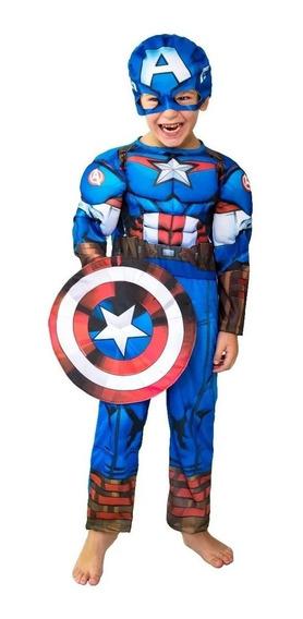 Disfraz Capitan America Con Musculos New Toys 123210/123310