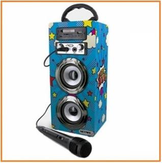 Parlante Portatil Karaoke Netmak Bluetooth / Usb / Microfono