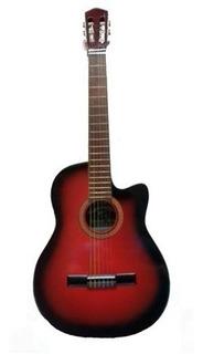 Guitarra Electroacustica Breyer Corte Eq M20 Roja Esfumada