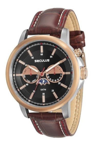 Relógio Seculus Masculino Bronze 23547gpsvgc1