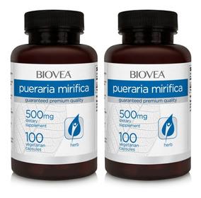 Pueraria Mirífica 500mg 200 Cápsulas Biovea Pronta Entrega
