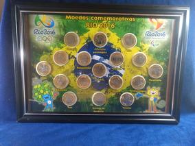 Quadro Completo Com Moedas Olimpíadas Comemorativas 2016