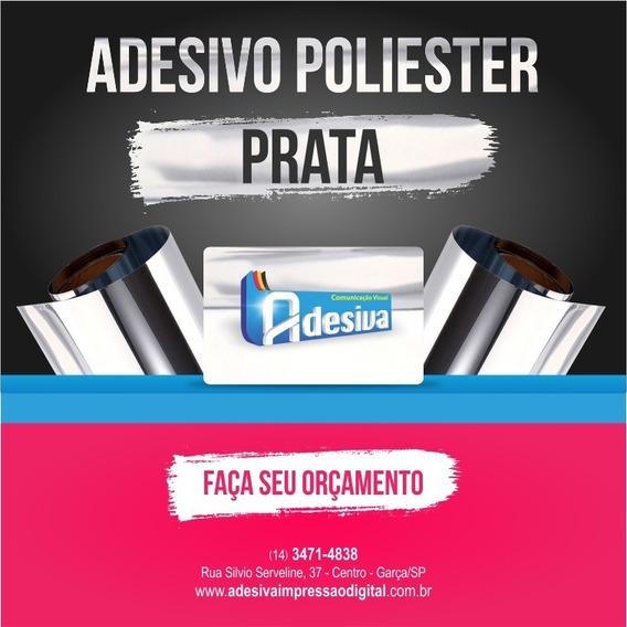 1.000 Etiquetas Adesivas Poliester Cor Prata 11x26mm