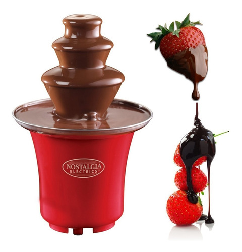 Mini Fuente De Chocolate Nostalgia 3 Niveles Fondue Fresas !