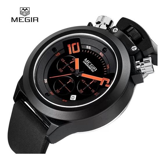 Relógio Masculino Megir Sport 2004 P. De Silicone Funcional