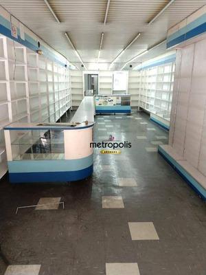 Salão Para Alugar, 125 M² Por R$ 4.500/mês - Santo Antônio - São Caetano Do Sul/sp - Sl0082