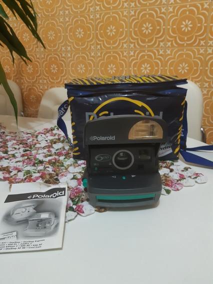 Câmera Analógica Polaroid 600 Com Nota Fiscal Manual Mochila