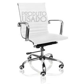 Usado Cadeira Escritório Diretor Couro Pu Eames Esteirinha