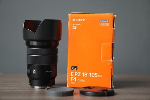 Lente Sony E Pz 18-105mm F/4 G Oss E-mount Sony (selp18105g)
