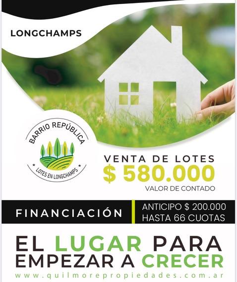 Emprendimiento Lotes Para Vivienda En Longchamps