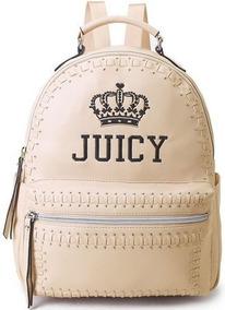 Bolsa Mochila Juicy Couture Tachas Bege/nude