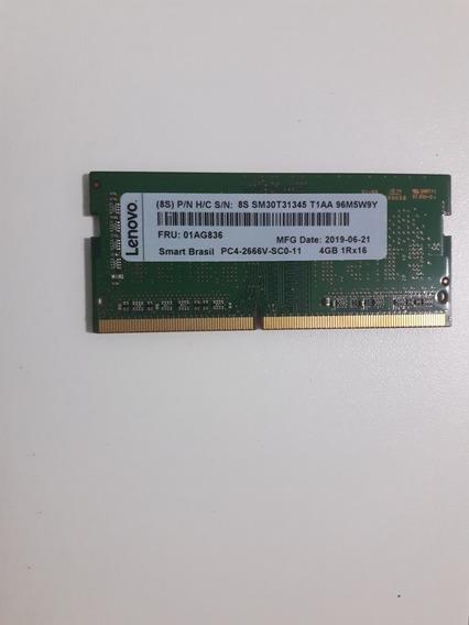 Memória Lenovo 4gb Ddr4 Sodimm Pc4-2666 Sm30t31345