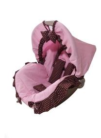 Capa Para Bebê Conforto Multimarcas Acolchoada Rosa Bebê