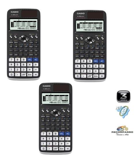 Kit 3 Calculadoras Científica Casio Fx-991lax Classwiz