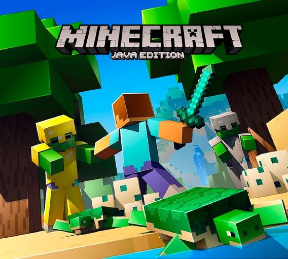 Minecraft Pc Original Java Edi Mojang Key/código 25 Digitos