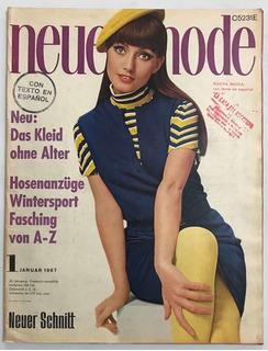 Revista Neue Mode Burda N° 1 Enero 1967 Con Moldes