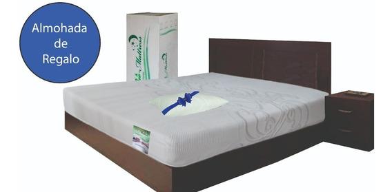 Colchon Memory Foam Individual En Caja Royale + Almohada