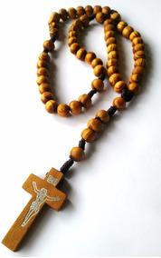 Terço De Mão Madeira C/ Crucifixo