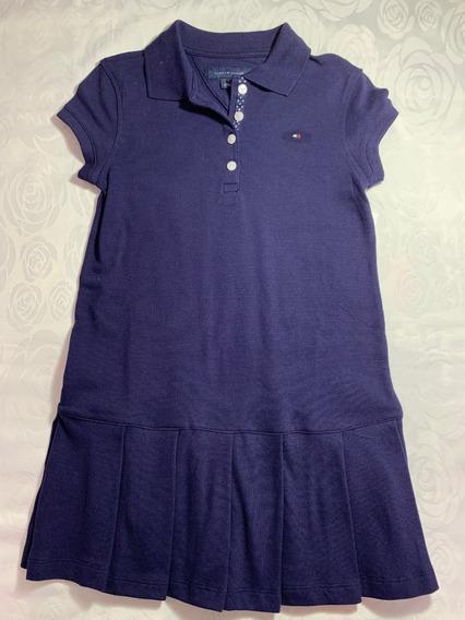 Vestido Infantil Tommy Hilfiger Azul Marinho Tam 5 E 12 Anos