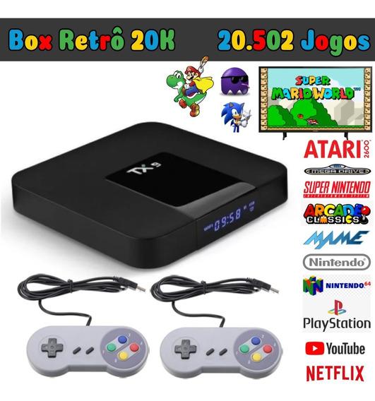 Box Video Game Retrô Só Ligar Na Tv Jogos Antigos Multijogos