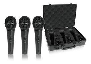 Microfono Behringer Xm1800s Dinamico Set X3 Con Estuche