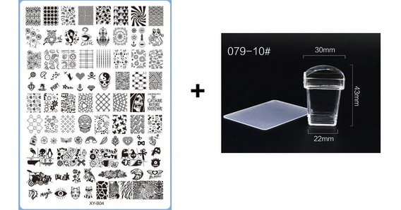 Super Placa De Imagem Plástica P/unhas Xy-b - Unidade -