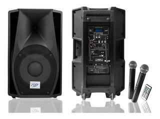 Bafle Amplificado Xss Sb122 De 15 Portatil 2 Microfonos Uhf