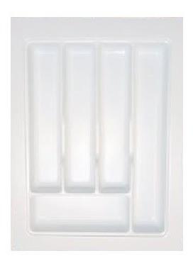 Cubiertero Organizador Plástico Blanco Para Cajón 350 X 480