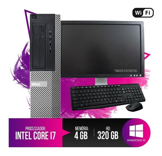 Pc Dell Completo Optiplex 7010 Core I7, 4gb Ram, Hd 320gb...