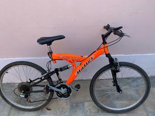 Bicicleta Halley Rodado 26 Doble Amortiguación