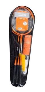 Kit Badminton 4 Raquetes 3 Petecas E Rede - Vollo