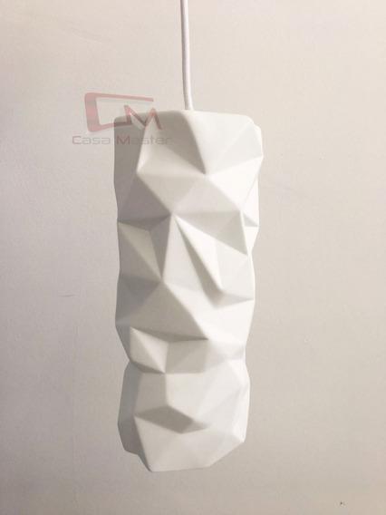 Pendente Porcelana Branco Para Lampada E27 Bivolt
