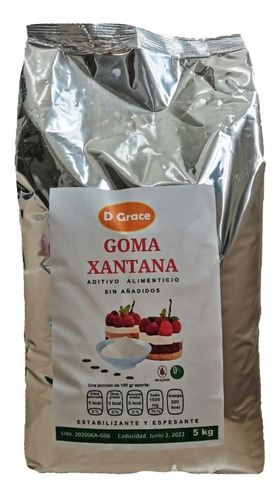 Imagen 1 de 3 de Goma Xantana Sin Gluten Keto Calidad Premium 5 Kg