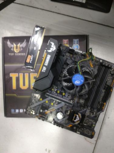Kit Placa Mãe Asus B360 Plus Tuf Gamer + Intel Core I5 9400f