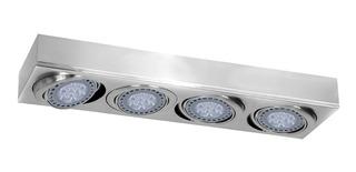 Plafon 4 Luces Lineal Ar111 Cardanico Platil Lampara Led 48w