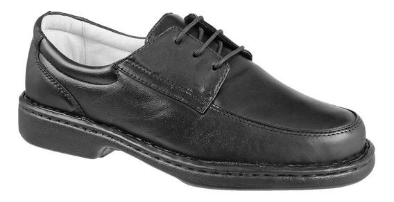Sapato Antistress Amarrar Forrado Em Couro Pele Carneiro