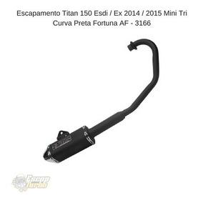 Escapamento Fan 150/ Titan 150 2014 Ex/esdi Mini Tri Fortuna
