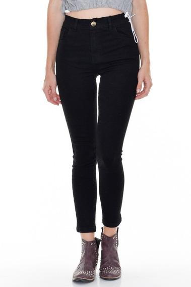 Jeans Mujer Sisa Black Clasico Chupin Tiro Alto