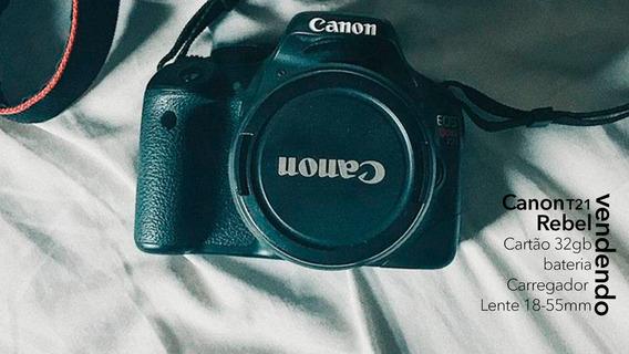 Câmera Canon T2i Com Lente 18-55mm Bateria E Carregador