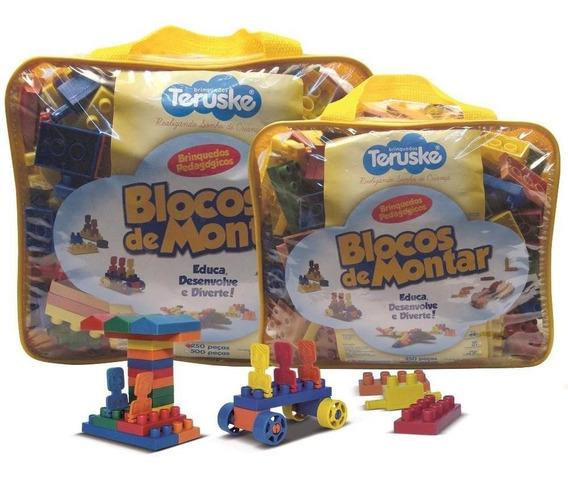 Lego De Montar Conectando Brinquedo Pedagógico 250 Peças