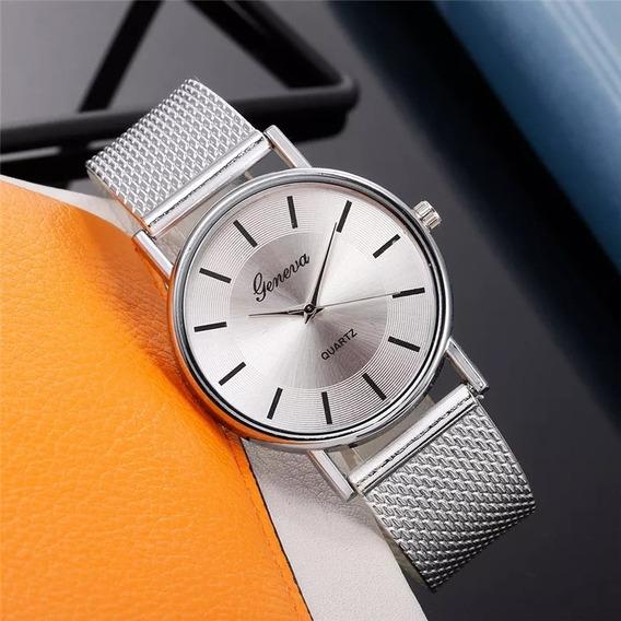Relógio Feminino De Cor Prata Analógico Relógio Para Mulher