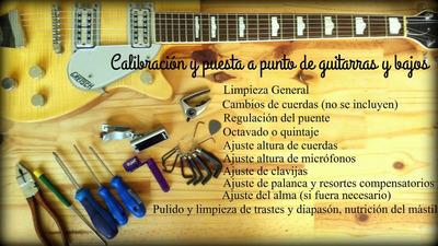 Calibracion De Guitarras Y Bajos Electricos