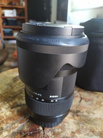 Lente Sigma 18-35mm 1.8 Ef Canon Oportunidade